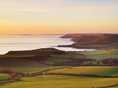 View west from Swyre Head overlooking Kimmeridge