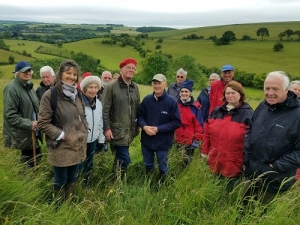 Tour of George and Dougal Hosford's farm in Durweston on the 11th June 2019