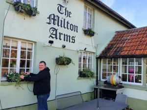 Steve Dunk from the Milton Arms in Winterborne Whitechurch