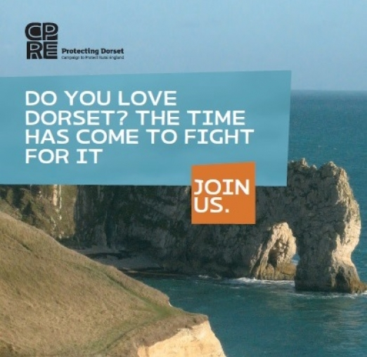 Durdle Door on cover of our 'Do you Love Dorset?' joining form