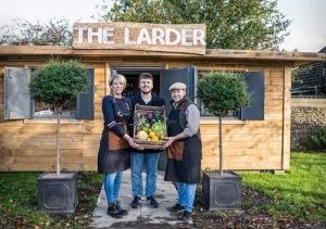 The Larder, a new village shop set up in the grounds of the Rose & Crown in Longburton