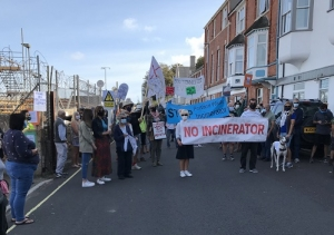 Portland Waste Incinerator Demonstration 12th September