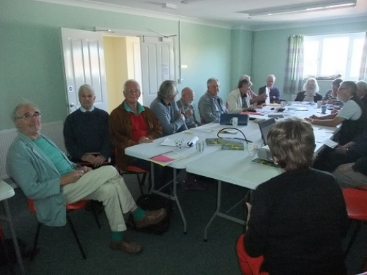 Volunteers attending Countryside Forum Meeting at Winfrith Village Hall on 17th March 2017