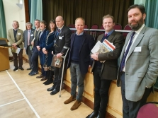 Group photo taken after panel discussion at Dorset CPRE Planning Conference 13th March 2020