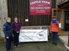 On the left Dawn and Georgie Dimond, Castle Farm on the Oborne Road, Sherborne, Dorset